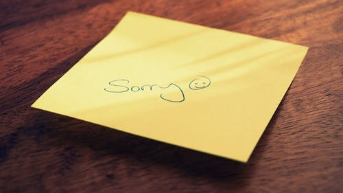SOrry Stick NOte